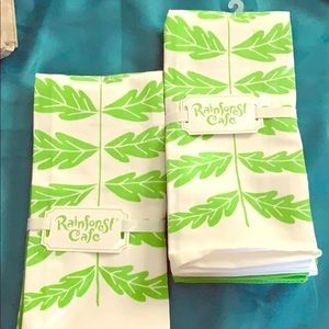 RainForest Cafe Dish Tea Towels 6 pieces